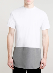 Topman Ragged Priest White Contrast T Shirt