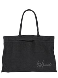 Yohji Yamamoto Signature Washed Linen Shopping Bag