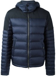 Burberry Quilted Padded Jacket Blue
