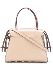 Tod's Clasp Closure Tote Bag Nude Neutrals