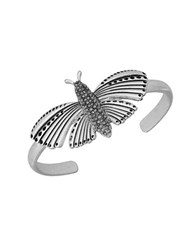 Lucky Brand Turquoise Natives Pave Butterfly Cuff Bracelet Silver