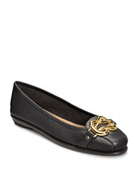 Aerosoles Highbet Leather Flats Black Leather