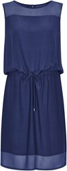 Soaked In Luxury Dress With Drawstring Waist Navy
