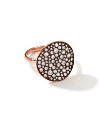 18K Rose Gold Glamazon Stardust Flower Ring With Diamonds 1.8 Ct Ippolita