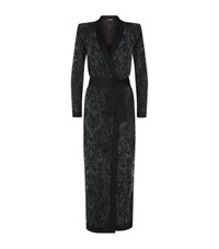 Balmain Long Lace Knit Cardigan Female Black
