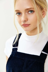 Urban Outfitters Sarah Rhinestone Nose Ring Silver