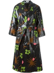 Isa Arfen Tropical Print Raincoat Multicolour