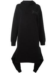 Aries Oversized Hooded Dress Black