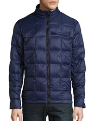 Hawke And Co Packable Quilted Down Jacket Navy