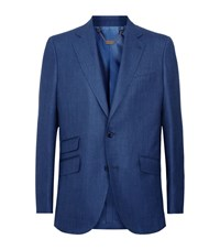 Billionaire Silk And Wool Jacket Male Blue
