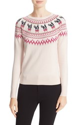 Ted Baker Women's London Merry Woofmas Fair Isle Pullover