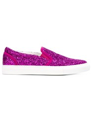 Dsquared2 Glitter Slip On Sneakers Pink And Purple