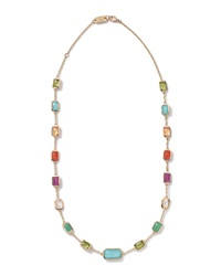 Ippolita 18K Gold Rock Candy Summer Rainbow Multi Stone Necklace