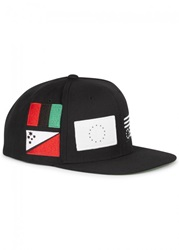 Mens Caps Black Scale Pandemic Black Snapback Cap