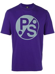 Paul Smith Ps By Logo Print T Shirt Pink Purple