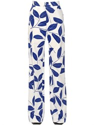 Marni Leaves Print Stretch Cotton Drill Pants