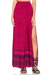 Spell And The Gypsy Collective Phoenix Maxi Skirt Fuchsia