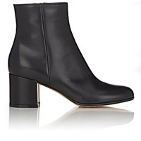 Gianvito Rossi Women's Leather Side Zip Ankle Boots Blue