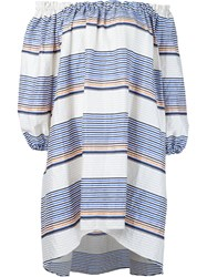 Tanya Taylor Stripe Brianna Sundress White
