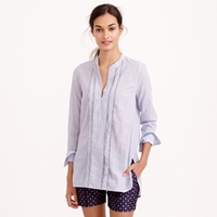 J.Crew Pre Order Tall Corded Popover Tunic In Blue Stripe