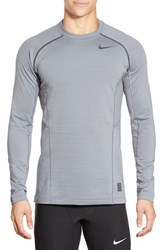 Men's Nike 'Pro Hyperwarm' Fitted Long Sleeve Dri Fit T Shirt Cool Grey Anthracite