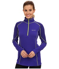 Marmot Thermalclime Pro L S 1 2 Zip Electric Blue Midnight Purple Women's Sweatshirt
