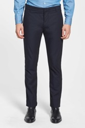 J Brand Slim Fit Cotton Pants Blue