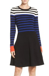 Vince Camuto Women's Stripe Sweater Fit And Flare Dress