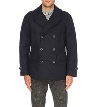 Polo Ralph Lauren City Down Wool Blend Peacoat Collection Navy