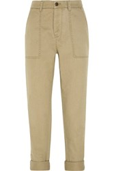 J.Crew Utility Cotton Twill Tapered Pants Sand