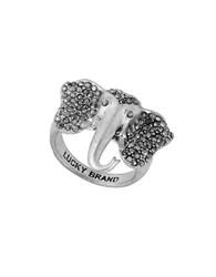 Lucky Brand Elephant Ring Silver