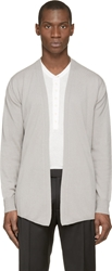 Lemaire Grey Draped Cashmere Cardigan
