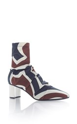 Emilio Pucci Labyrinth Printed Ankle Boot Multi