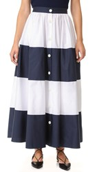 Mds Stripes Colorblock Ball Skirt Navy White