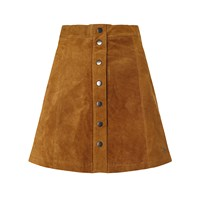 Numph Carla Suede Skirt Trush