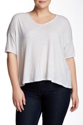 Bb Dakota Keala Elbow Sleeve Tee Plus Size Beige