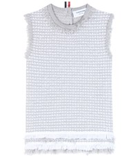 Thom Browne Cotton Blend Top Grey