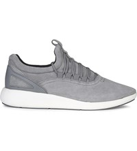 Aldo Oladonia Suede Low Top Trainers Dark Grey
