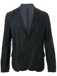 Yohji Yamamoto Piping Single Jacket Black