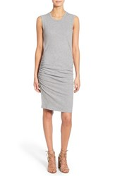 Women's James Perse Ruched Tank Dress Heather Grey