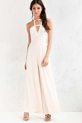Silence And Noise Silence Noise Origami Plunging Jumpsuit Ivory