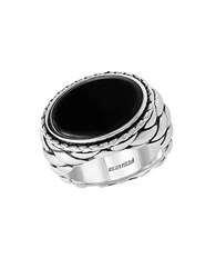 Effy Eclipse Sterling Silver Oval Ring Black