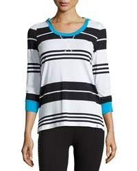 Marc Ny Performance Block Striped Hooded Tee St. Tropez