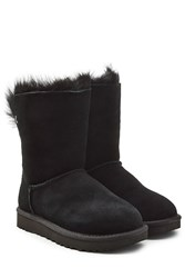 Ugg Australia Suede Boots With Fur Lining Black