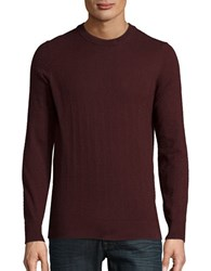 Ben Sherman Textured Crewneck Sweater Burnt Red
