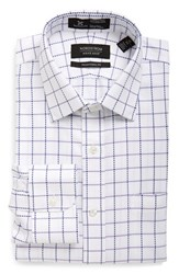 Men's Nordstrom Men's Shop Smartcare Traditional Fit Check Dress Shirt Lavender Spray