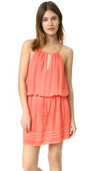 Young Fabulous And Broke Yfb Clothing August Dress Hot Coral