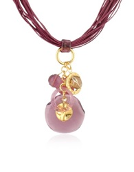 Antica Murrina Veneziana Kali' Murano Glass Charm Pendant Necklace Amethyst
