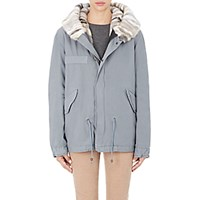 Mr And Mrs Italy Women's Fur Lined Short Parka Grey