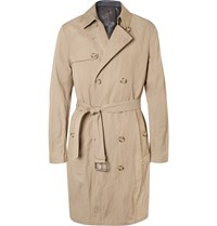 Michael Kors Double Breasted Twill Trench Coat Neutrals